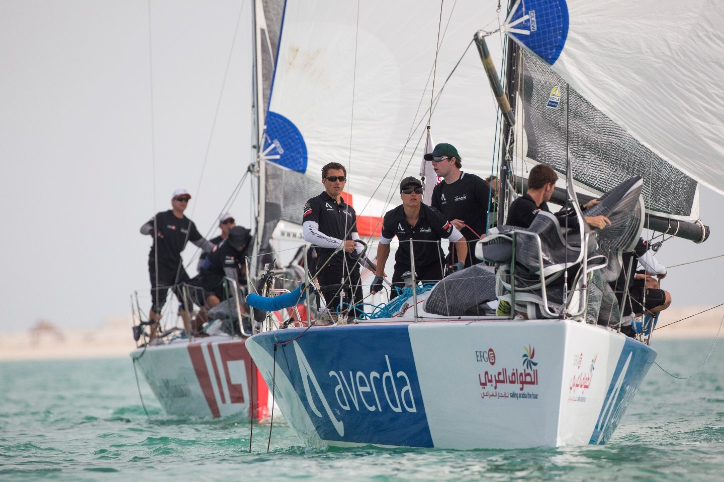 EFG Sailing Arabia The Tour 2015. Qatar. Doha.  Images free for editorial use.Credit: Lloyd