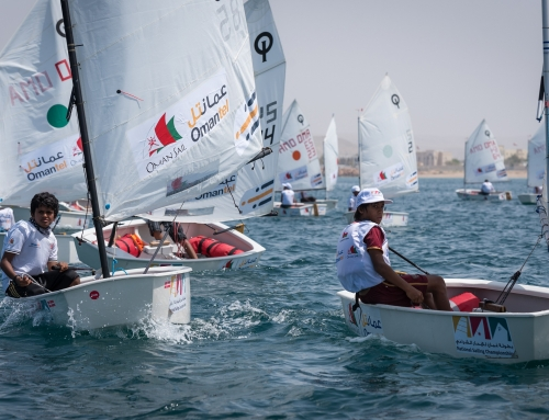 Omani Youth Sailors face challenging conditions at the 2016 National Sailing Championships in Sur