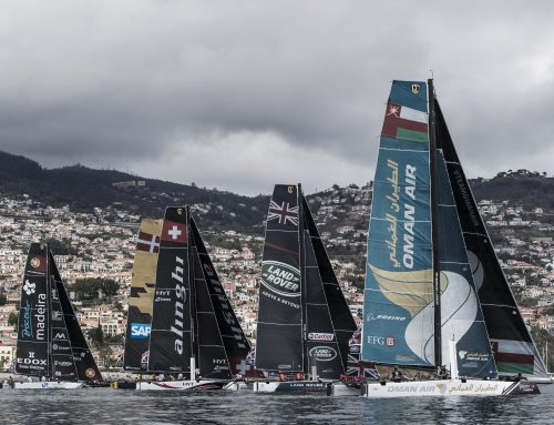 Oman Air rise to third place at Extreme Sailing Series Act 6 after a second calm and sunny day in Madeira