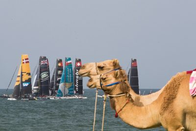 Extreme Sailing Series 2016. Act1. Muscat. Oman.  Image licensed to Lloyd Images