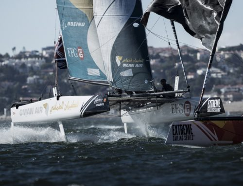 Team Oman Air all set for spectacular final day at Extreme Sailing Series Lisbon