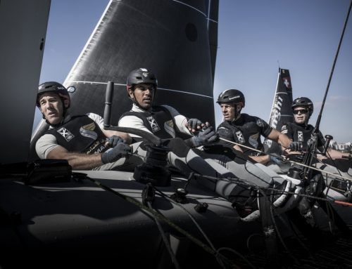 Competition is close as Team Oman Air stay top of the 2016 Extreme Sailing Series leaderboard with Sydney in their sights