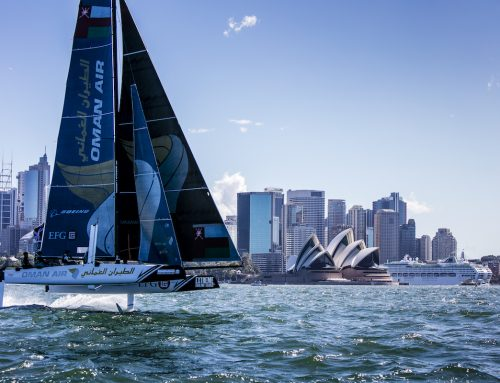 Oman Air close gap on Alinghi as pressure gauge rises in Extreme Sailing Series Sydney finale