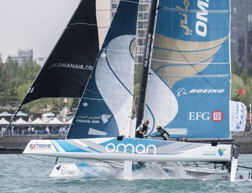 Team Oman Air achieve Qingdao podium after eleventh-hour Extreme Sailing Series Act 2 comeback