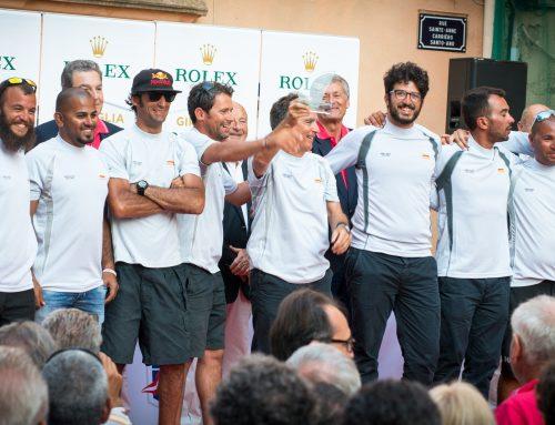 Oman Sail yachtsmen celebrate winning classic Giraglia Rolex Cup race