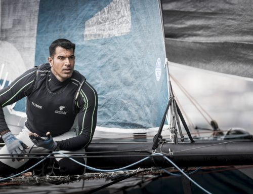 Team Oman Air crew must bide their time as wind fails to appear for Extreme Sailing Series in Hamburg