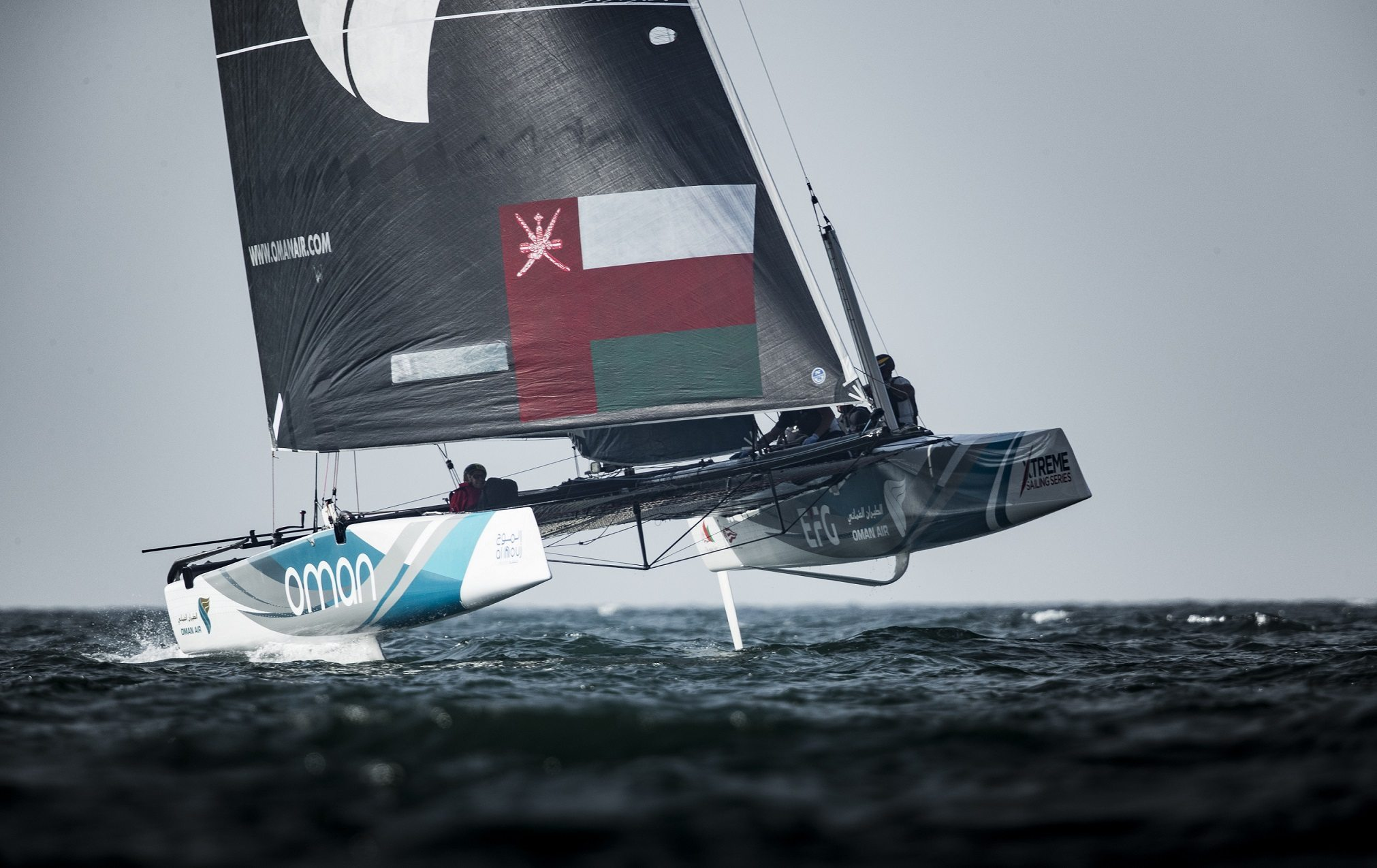Oman Air crew confident of closing the gap as Extreme Sailing Series heads towards its conclusion