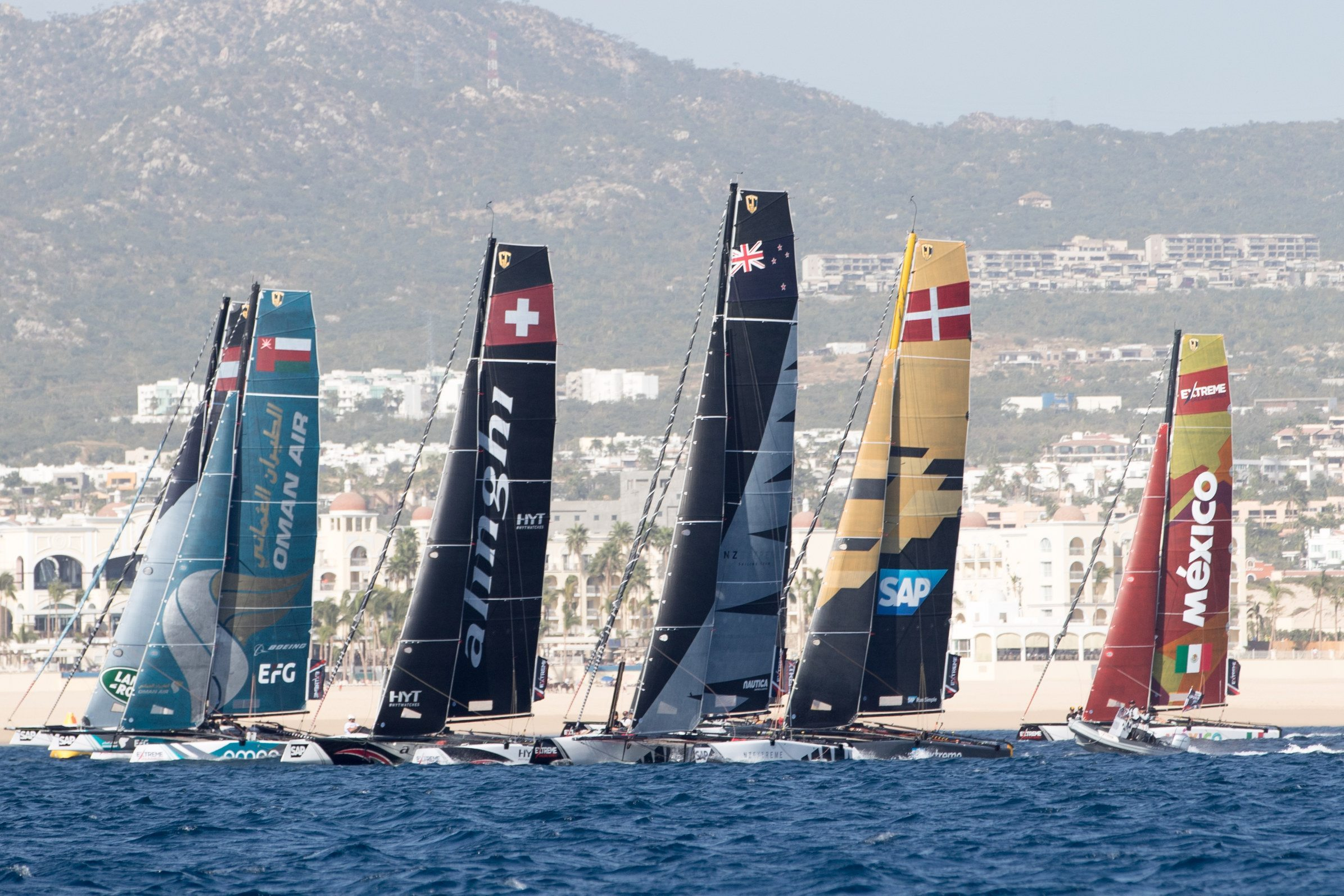 Oman Air are the team to beat at Extreme Sailing Series decider in Mexico
