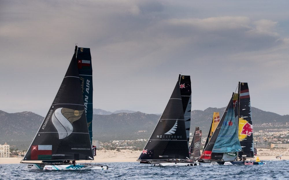 Team Oman Air's fighting spirit halts Alinghi juggernaut at Extreme Sailing Series finale in Mexico