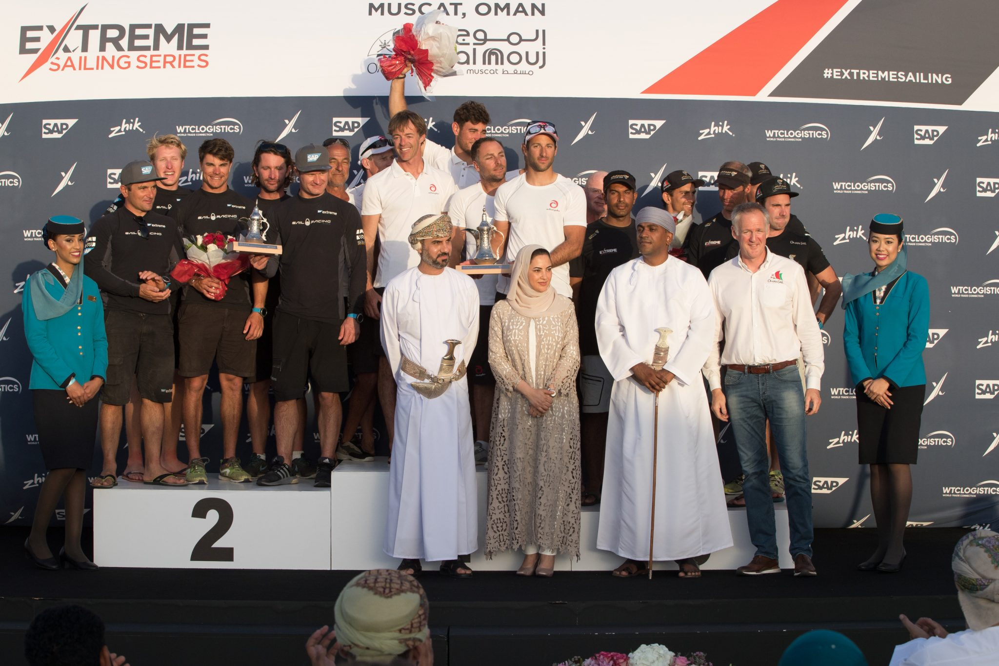 Team Oman Air secure a podium place as Extreme Sailing Series concludes in Muscat