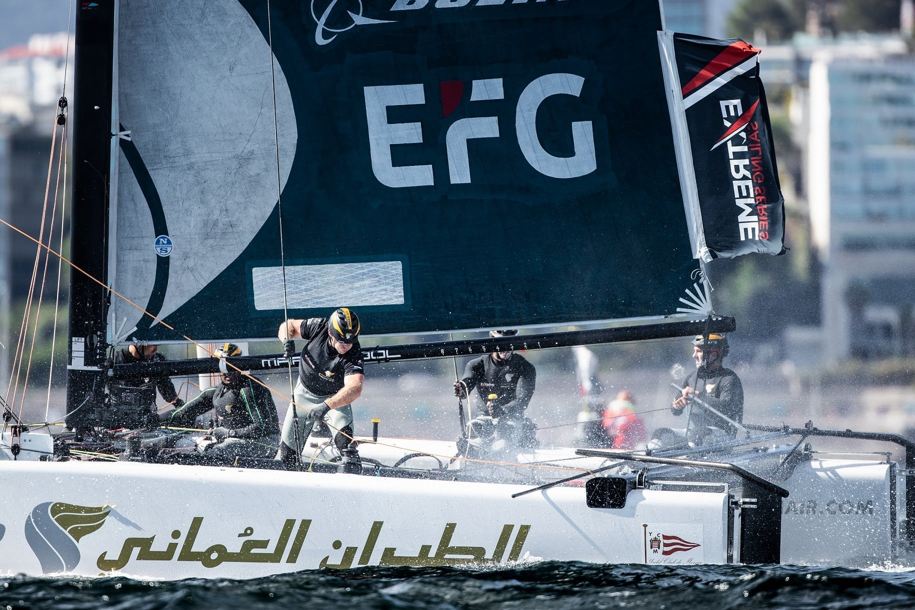 Oman Air team third in 2018 Extreme Sailing Series after competitive event in Portugal
