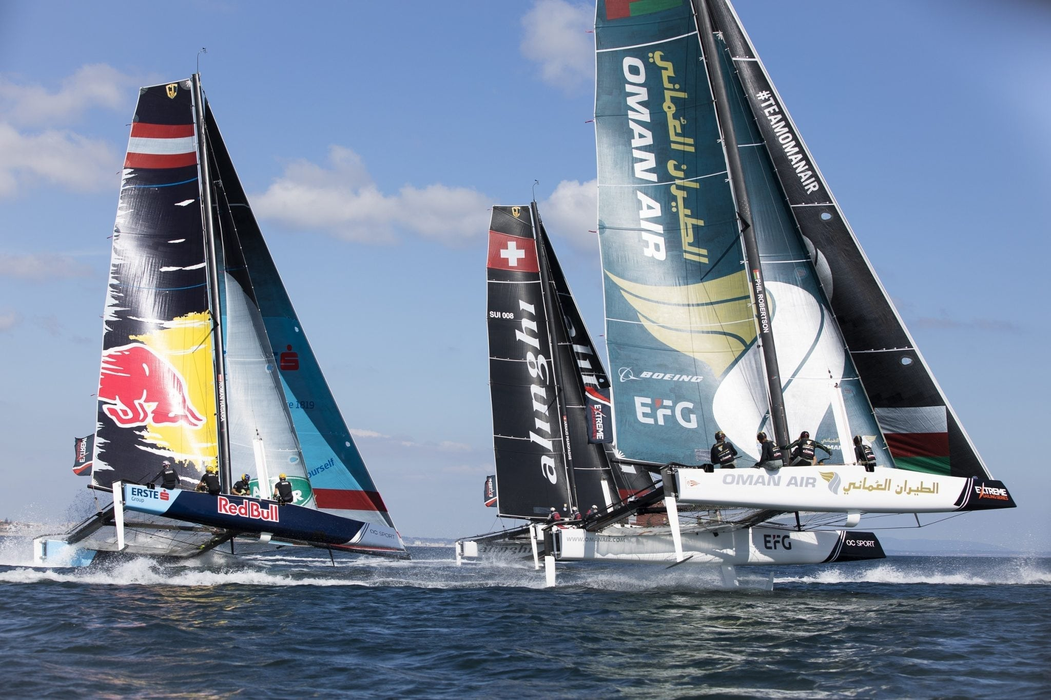 Oman Air focused on final day comeback at Extreme Sailing Series event in Portugal