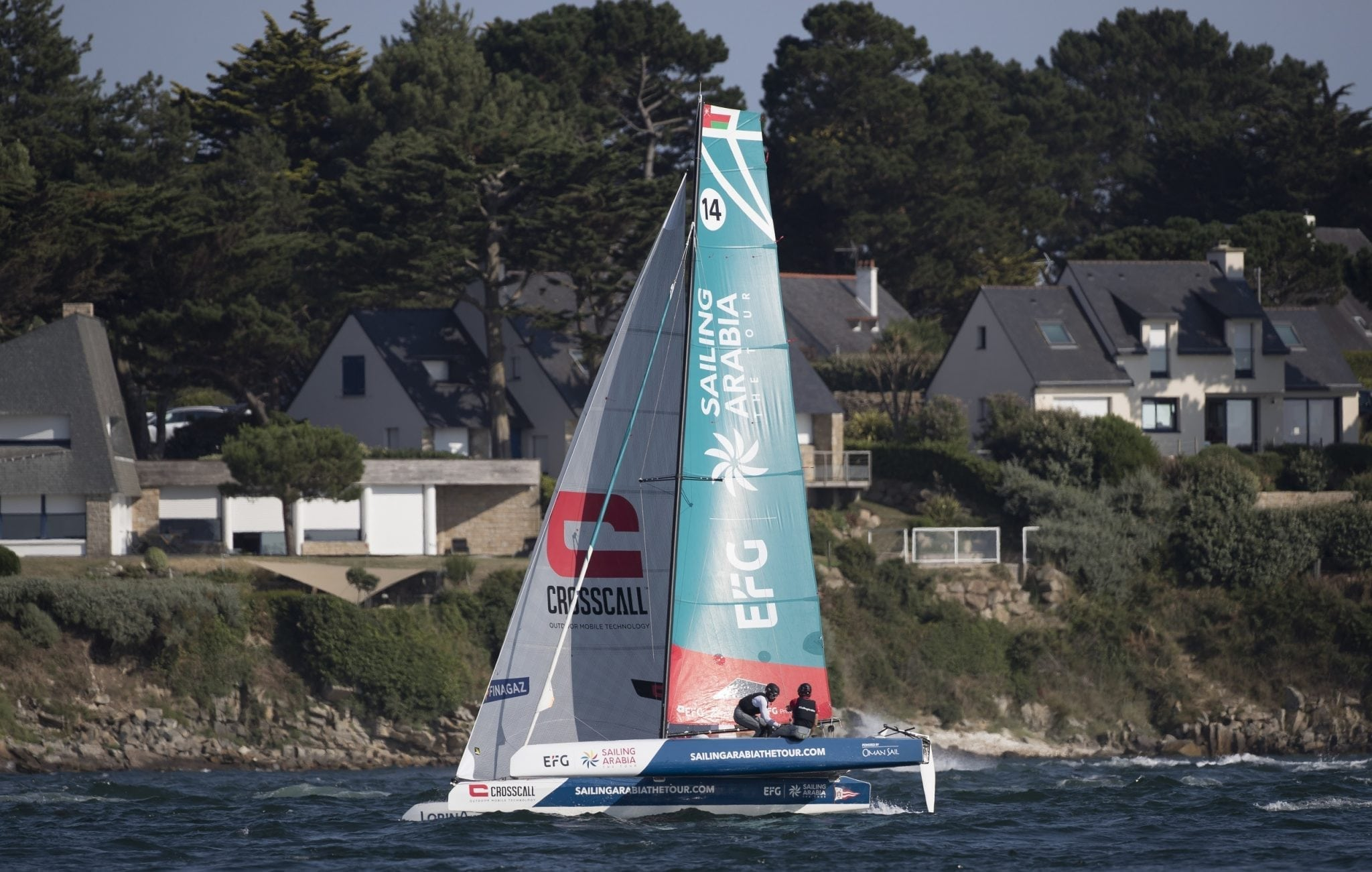 Oman Sail's Diam 24 team overcome adversity to keep Tour Voile podium goal in reach