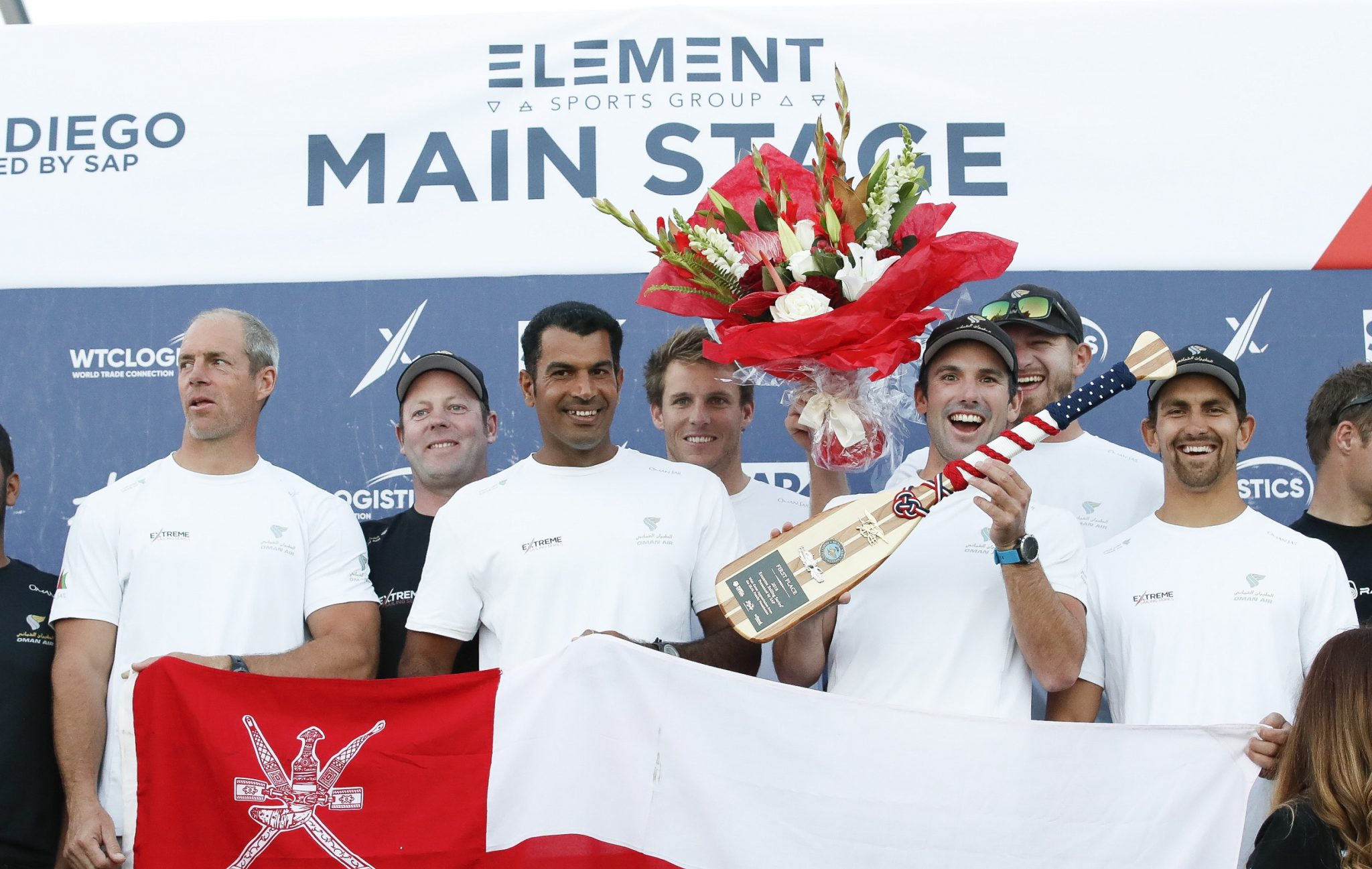 Team Oman Air celebrate Extreme Sailing Series success in San Diego