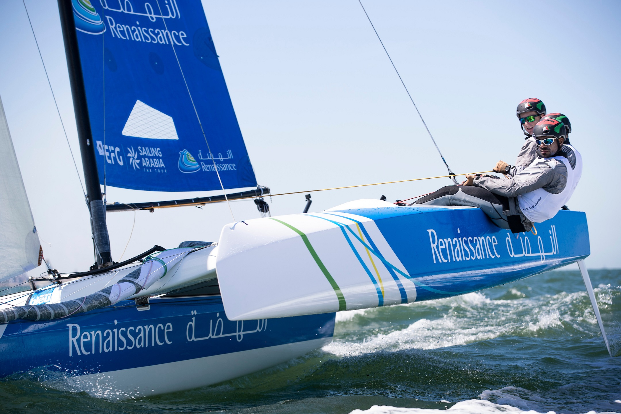 Oman Sail teams show star quality in opening Act of the Tour Voile