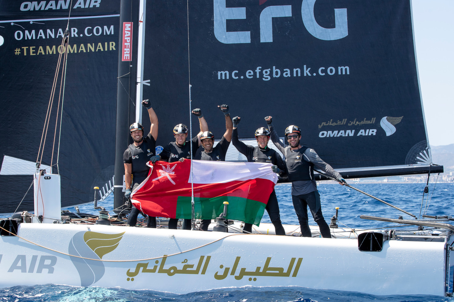 Team Oman Air take overall lead of the GC32 Racing Tour after winning the Copa del Rey MAPFRE