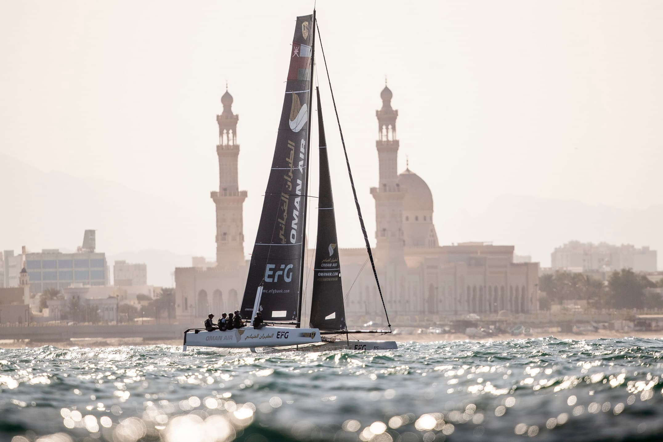 Team Oman Air finishes second overall after 2019 GC32 Racing Tour season comes to an end with a thrilling regatta in Muscat, Oman
