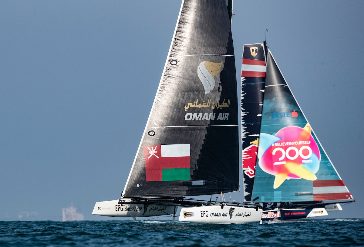 Team Oman Air look forward to dramatic GC32 Tour title-decider on home waters in Muscat
